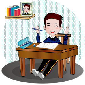 —Pngtree—hand drawn cartoon boy studying_4030676