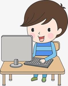 學生看電腦